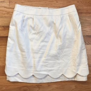 Leifsdottir Anthropologie linen scalloped skirt 2